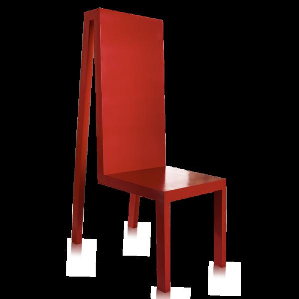 Exercice rouge di Profili Design. Sedia di design.